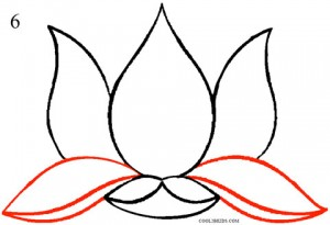 how to draw a lotus step by step