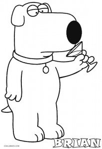 printable family guy coloring pages for kids