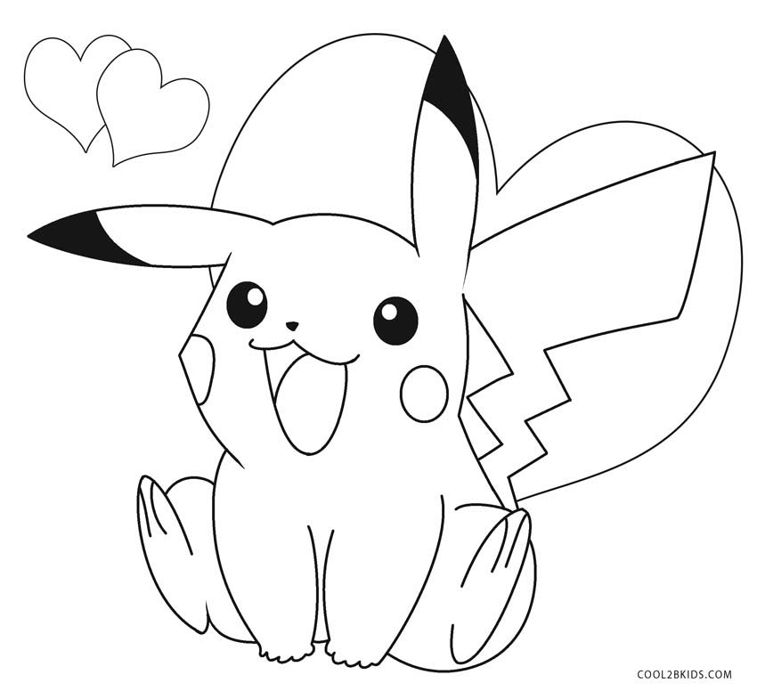 pikachu in action coloring pages - photo#23
