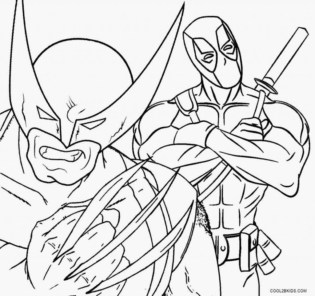 Deadpool Coloring Pages: Deadpool Coloring Pages Printable Coloring Pages