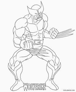 printable wolverine coloring pages for kids cool2bkids. Black Bedroom Furniture Sets. Home Design Ideas