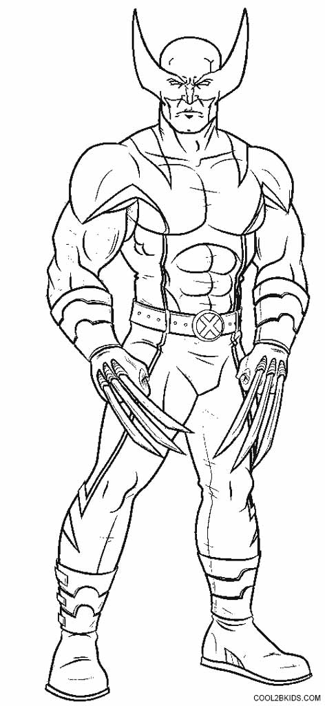 printable wolverine coloring pages for cool2bkids