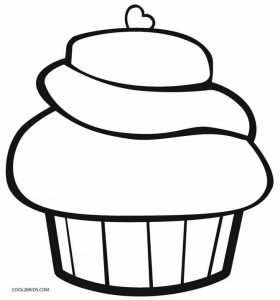 christmas cupcake coloring pages - photo#25