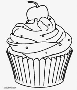 leaf coloring pages images cupcake - photo#10