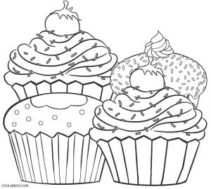 leaf coloring pages images cupcake - photo#30