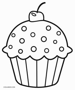 muffin coloring pages for kids - photo#6
