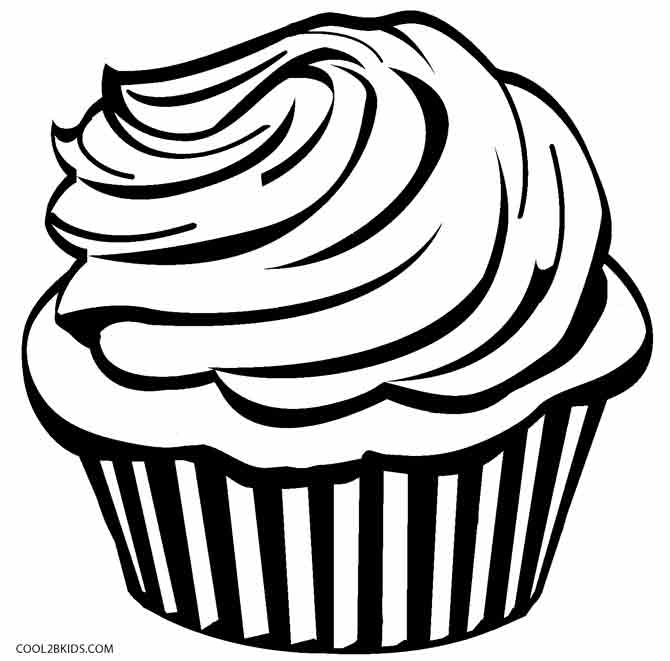 Coloring Pages Cupcakes Print