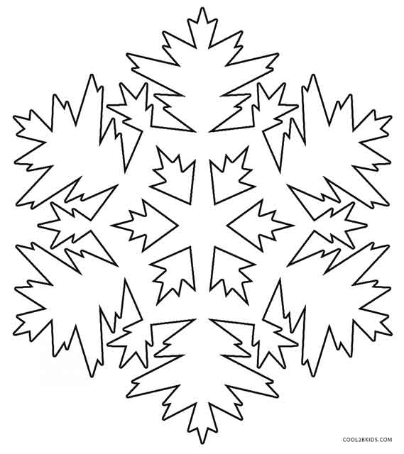 free snowflake coloring pages printable - photo#28