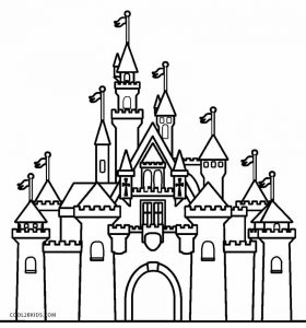 Printable castle coloring pages for kids cool2bkids for Cinderella castle coloring pages