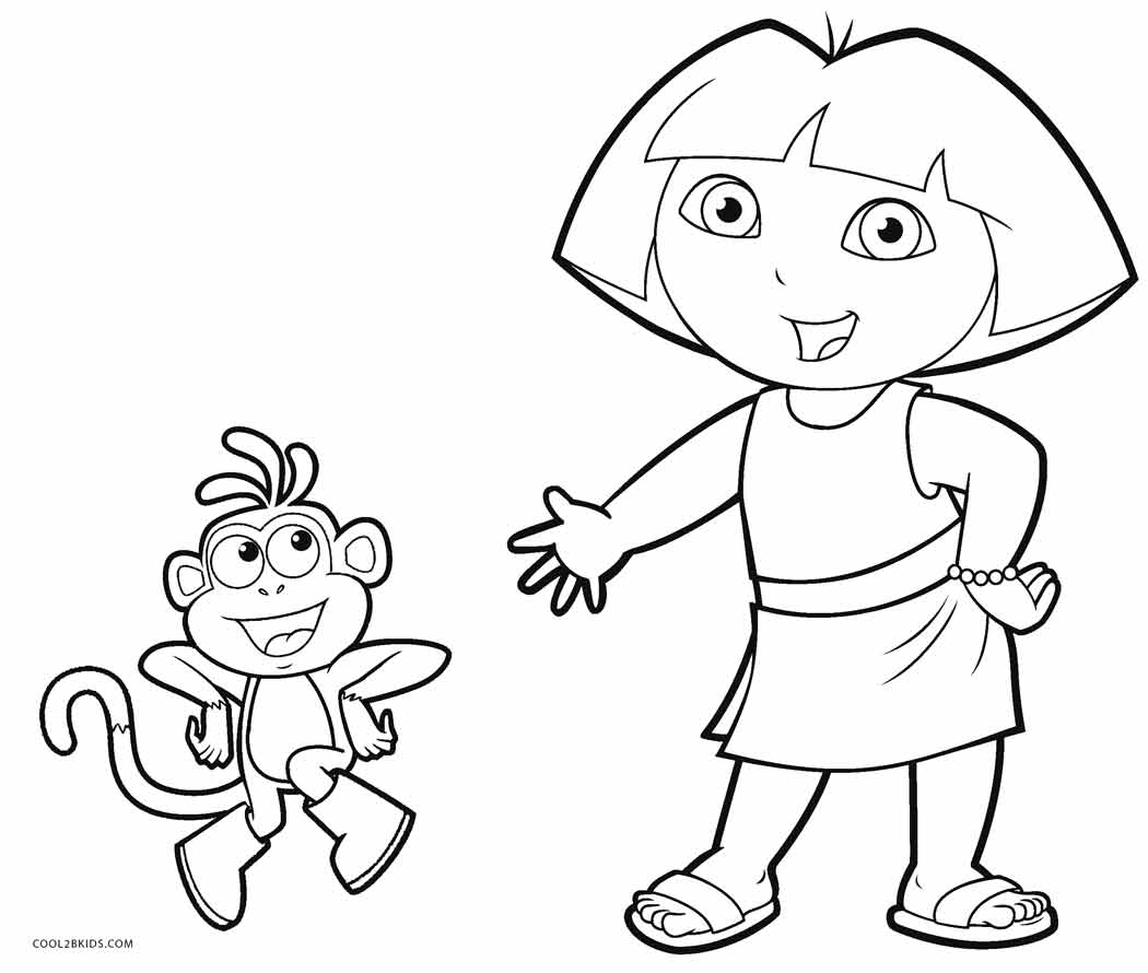 coloring pages with dora - photo#37