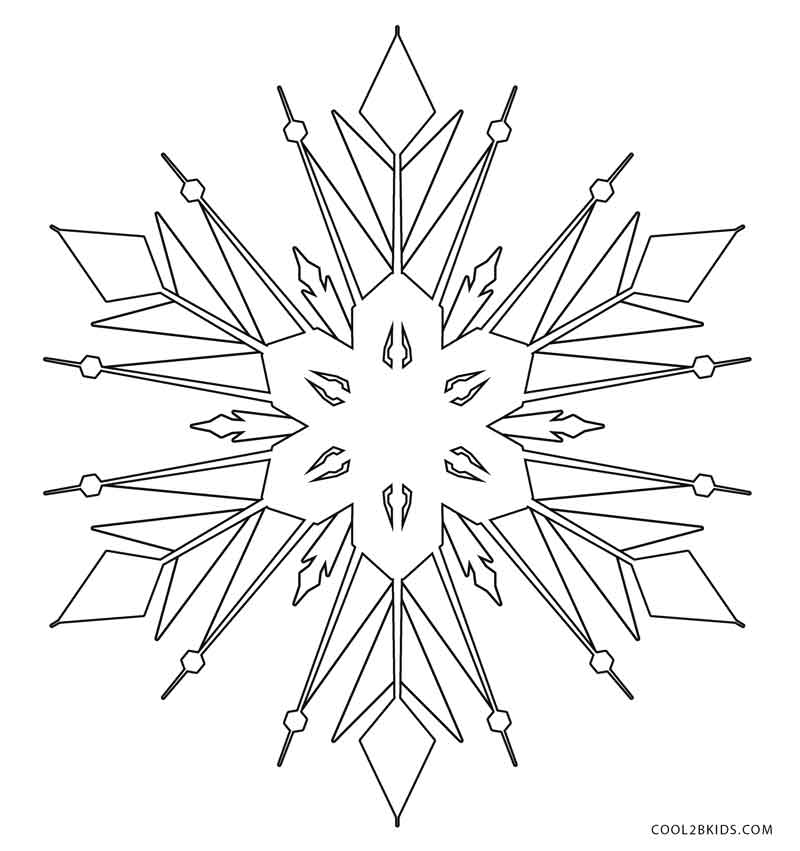 winter snowflakes coloring pages - photo#4