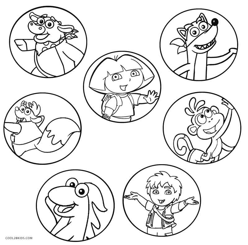 Free printable dora coloring pages for kids cool2bkids for Nick jr printable coloring pages
