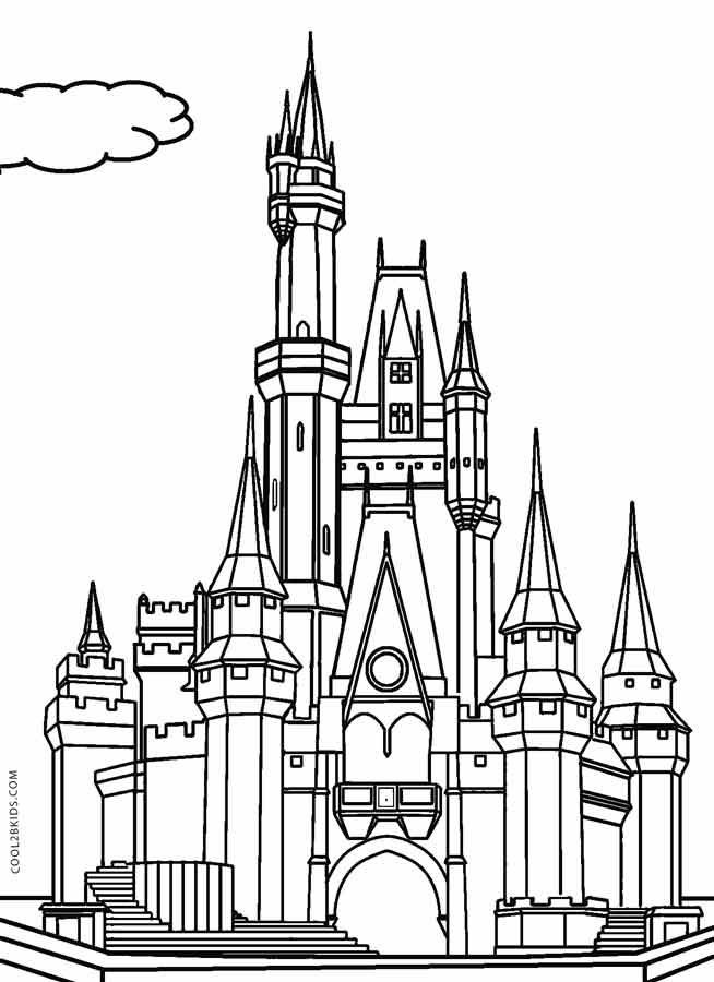 Printable Castle Coloring Pages