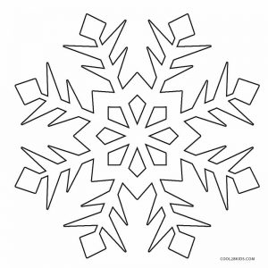 Printable Snowflake Coloring Pages For Kids Cool2bkids