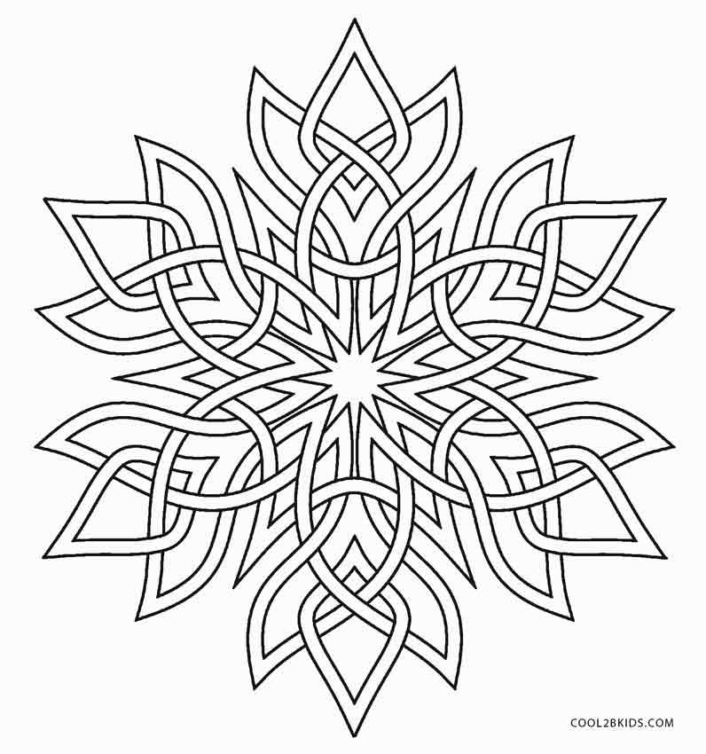 winter snowflakes coloring pages - photo#10