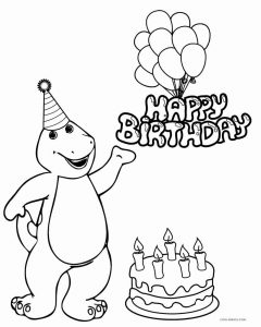 Coloring pages of barney at christmas ~ Free Printable Barney Coloring Pages For Kids | Cool2bKids