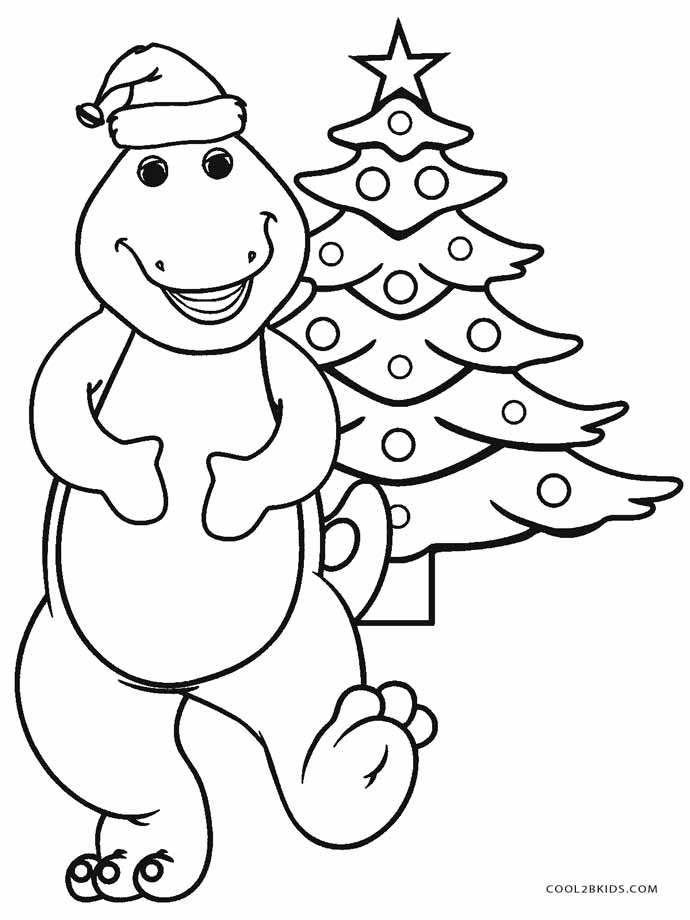 Free printable barney coloring pages for kids cool2bkids for Coloring pages xmas