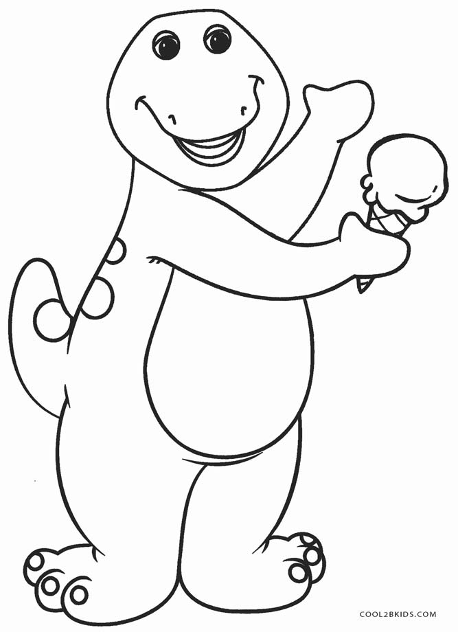free downloadable coloring pages | Free Printable Barney Coloring Pages For Kids | Cool2bKids