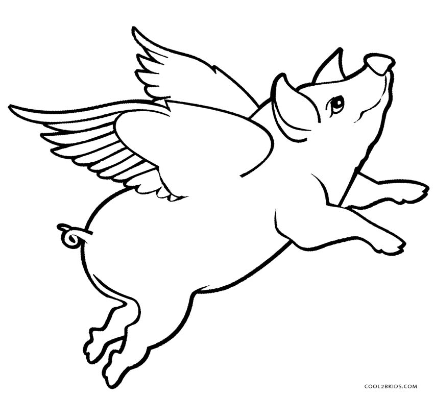 free pig coloring pages - photo#38
