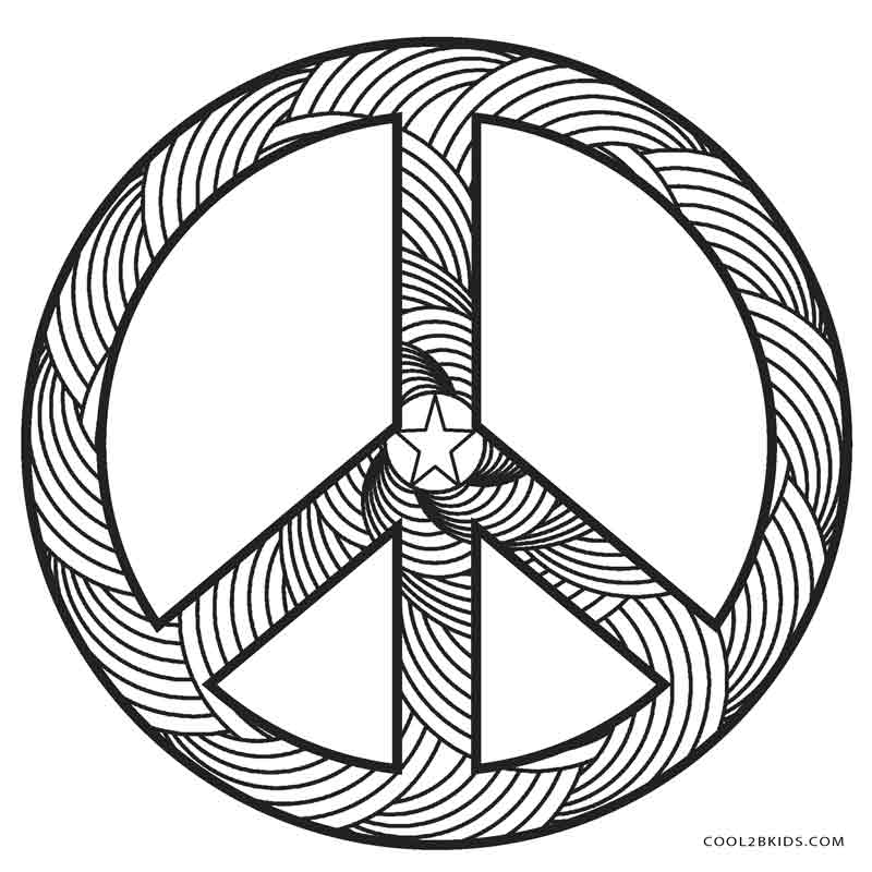 Zebra Peace Sign Coloring Pages Free Printable ...