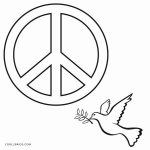 Free Printable Peace Sign Coloring
