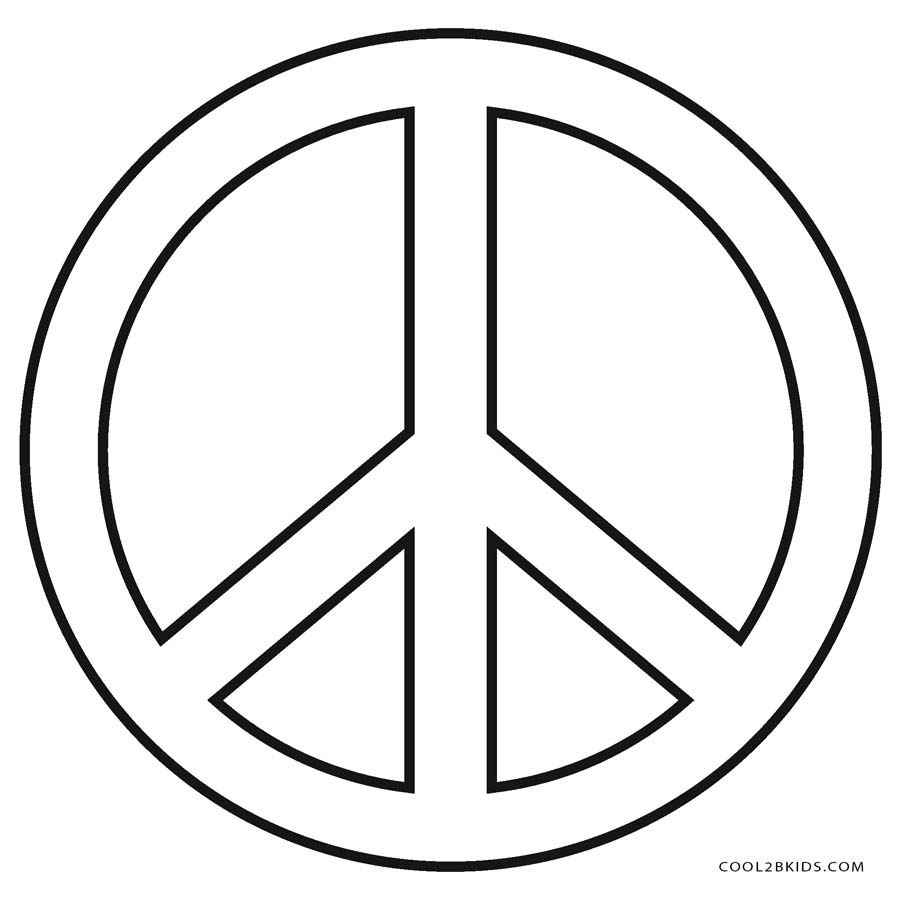 peace logo coloring pages - photo#3
