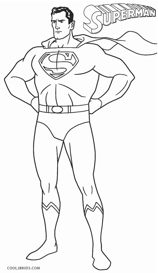 This is a picture of Inventive Superman Coloring Pages Printable