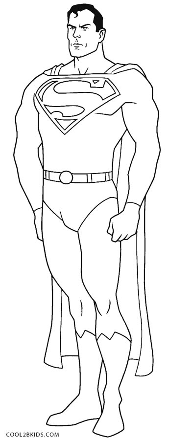 coloring pages superman - photo#14