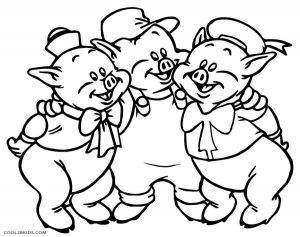 coloring pages for three little pigs | Free Printable Pig Coloring Pages For Kids | Cool2bKids
