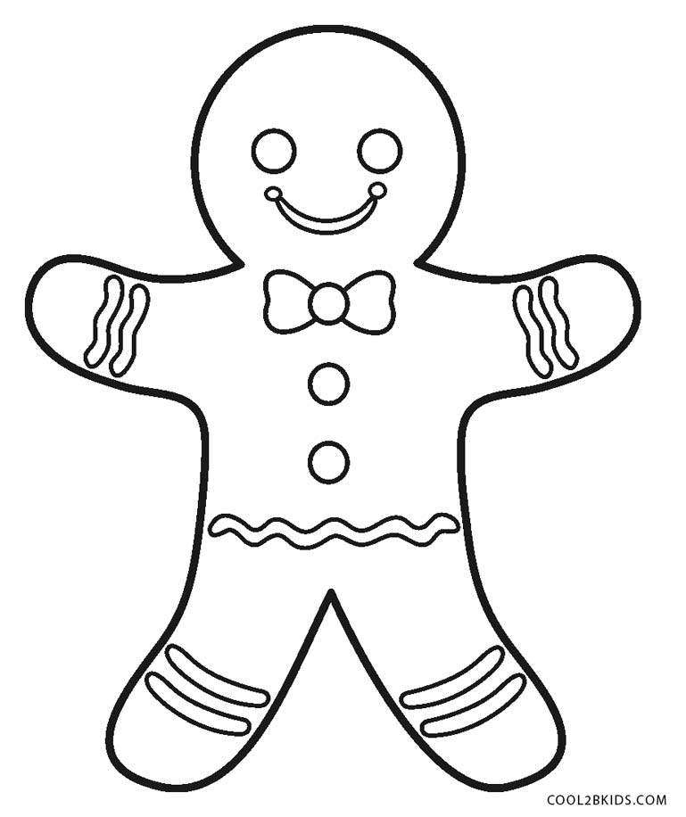 ginger bread coloring pages - photo#15