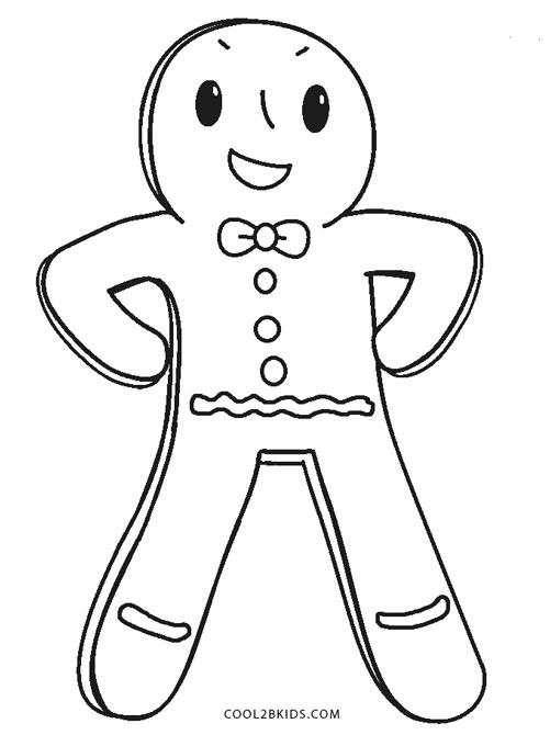 Free Printable Gingerbread Man