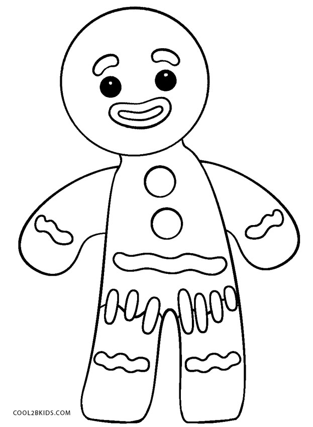 Free Printable Gingerbread Man Coloring Pages For Kids ...