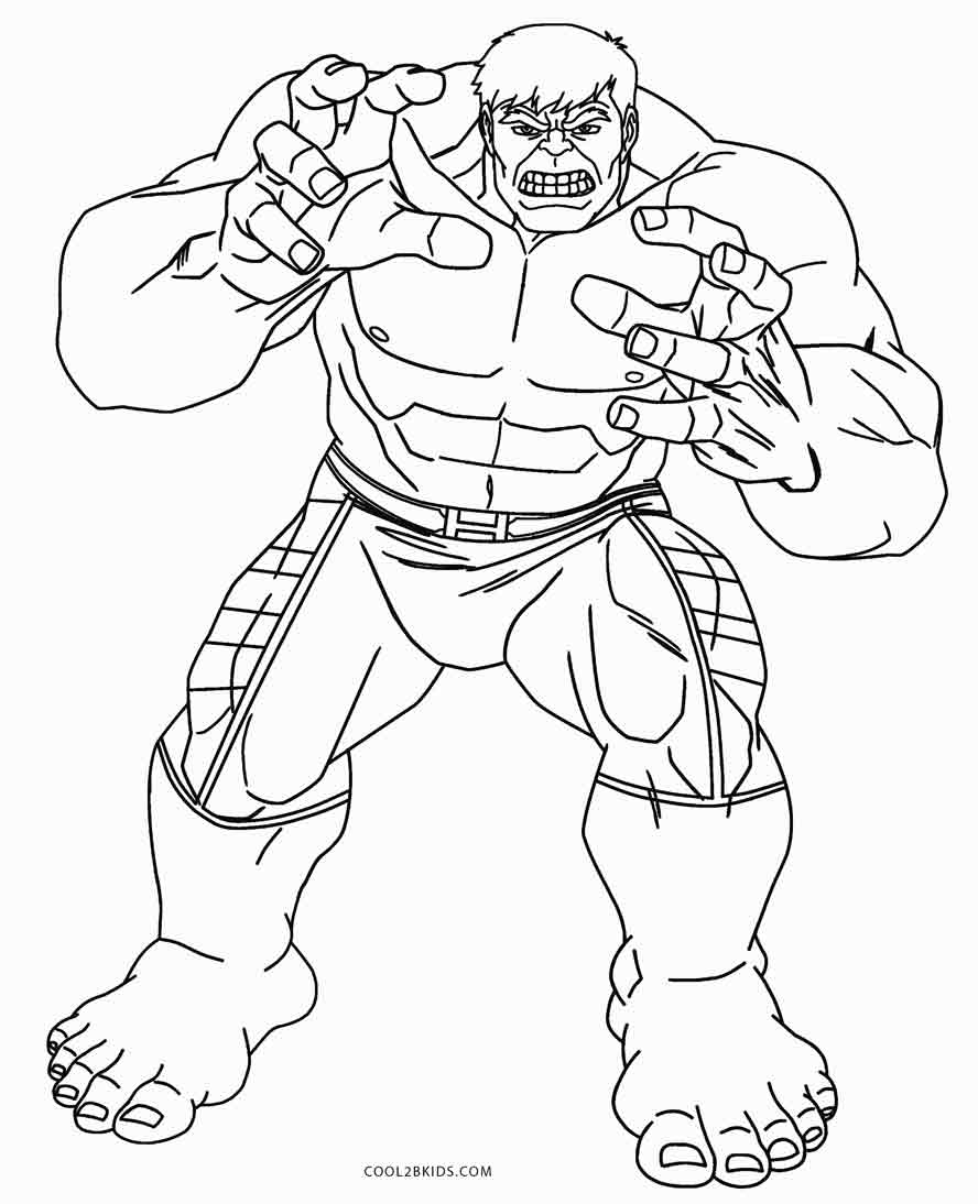 coloring pages hulk drawing coloring pages