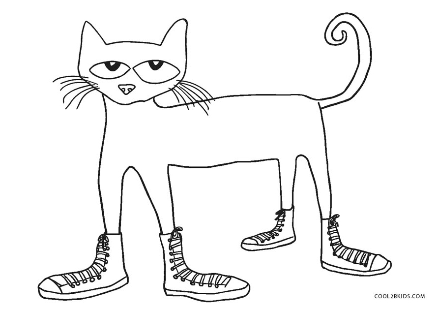 pete the cat coloring page free printable cat coloring pages for kids cool2bkids