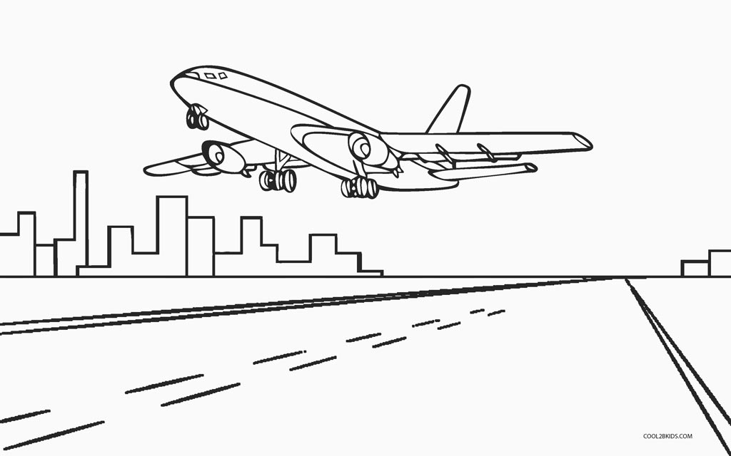 Coloring Pages With Airplanes : Free printable airplane coloring pages for kids cool bkids
