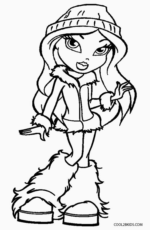 free brat dolls coloring pages - photo#7