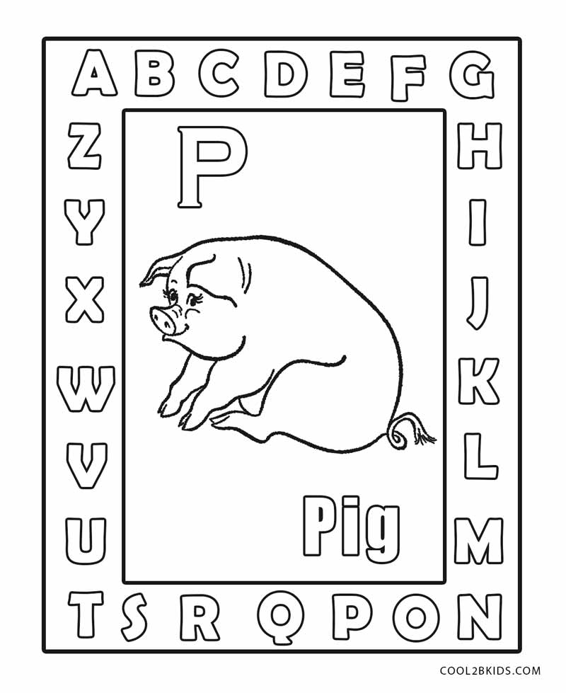 Free Printable Abc Coloring Pages For Kids Cool2bKids