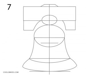 how to draw the liberty bell easy