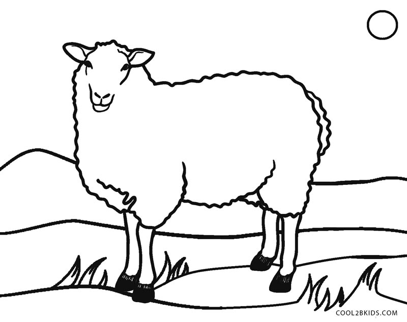 Free Printable Sheep Face Coloring Pages For Kids