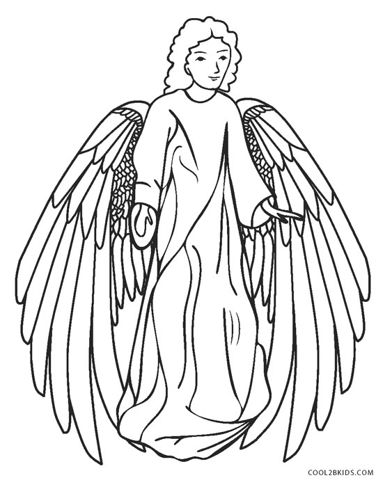 Free printable angel coloring pages for kids cool2bkids for Free printable angel coloring pages