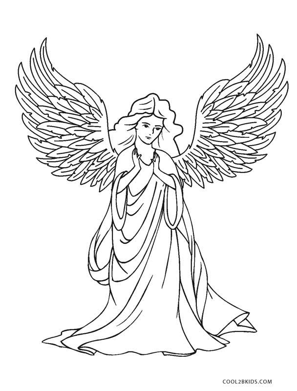 free chldrens angel coloring pages - photo#11
