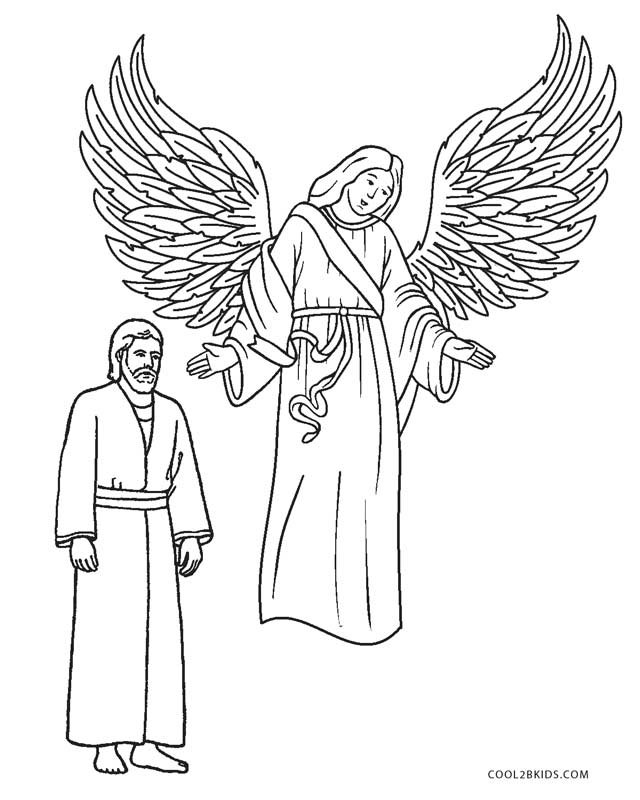 printable detailed angel coloring pages - photo#45