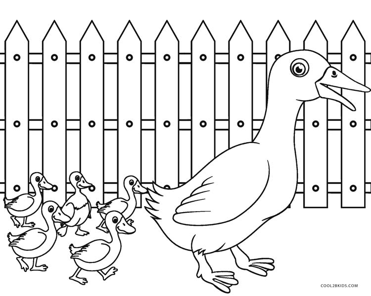 Free Printable Farm Animal Coloring