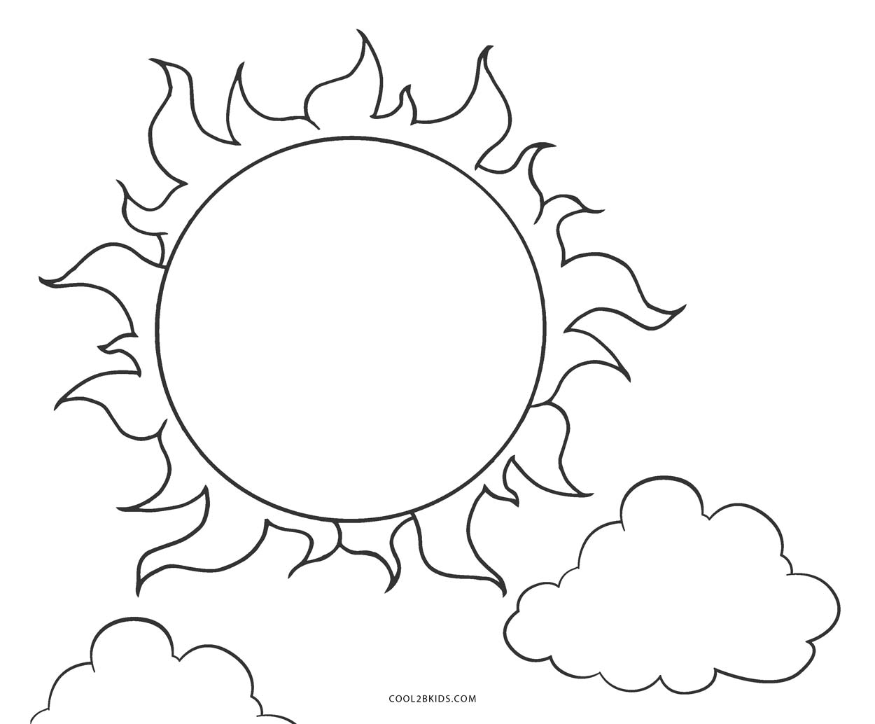 graphic regarding Sun Printable named Printable sunlight coloring web pages