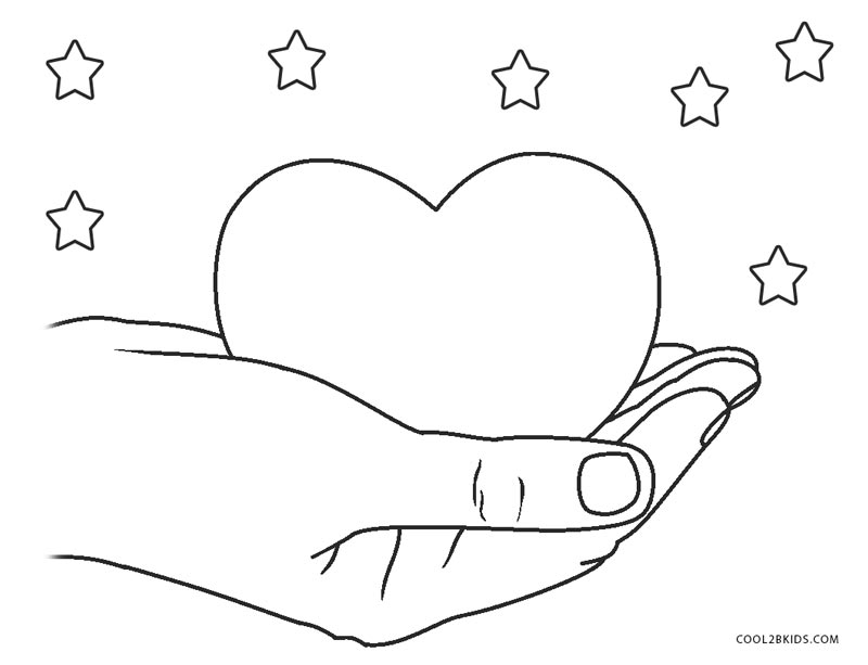 Frog Coloring Page With Heart