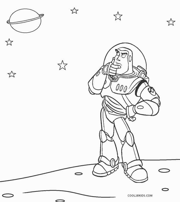 free printout coloring pages | Free Printable Buzz Lightyear Coloring Pages For Kids ...