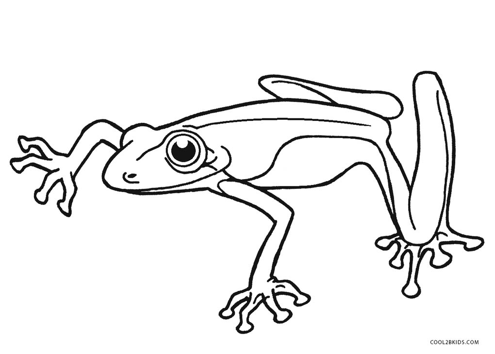 frog coloring pages free - photo#43
