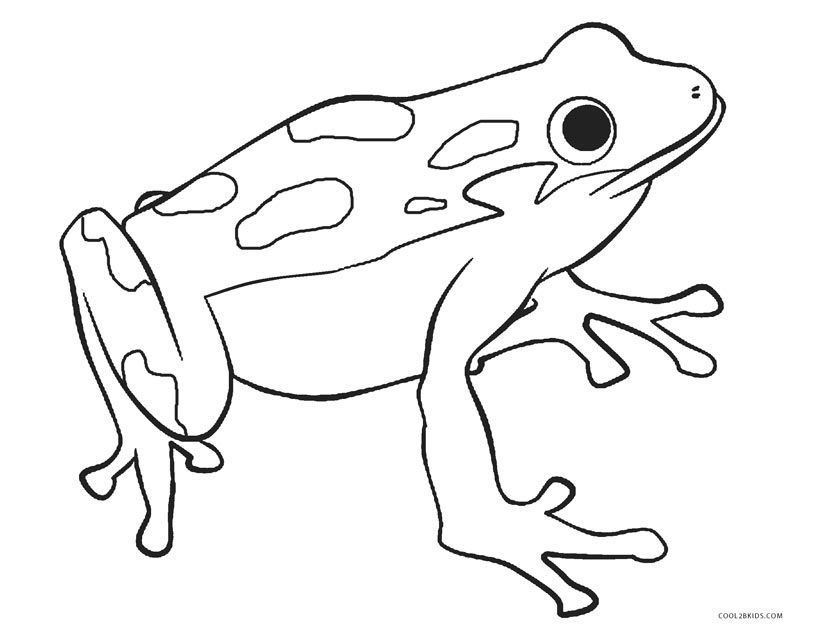 frog coloring pages free - photo#12