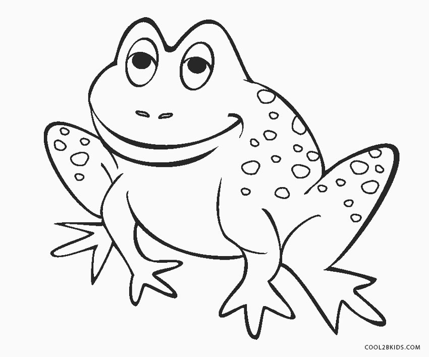 frog images coloring pages - photo#8