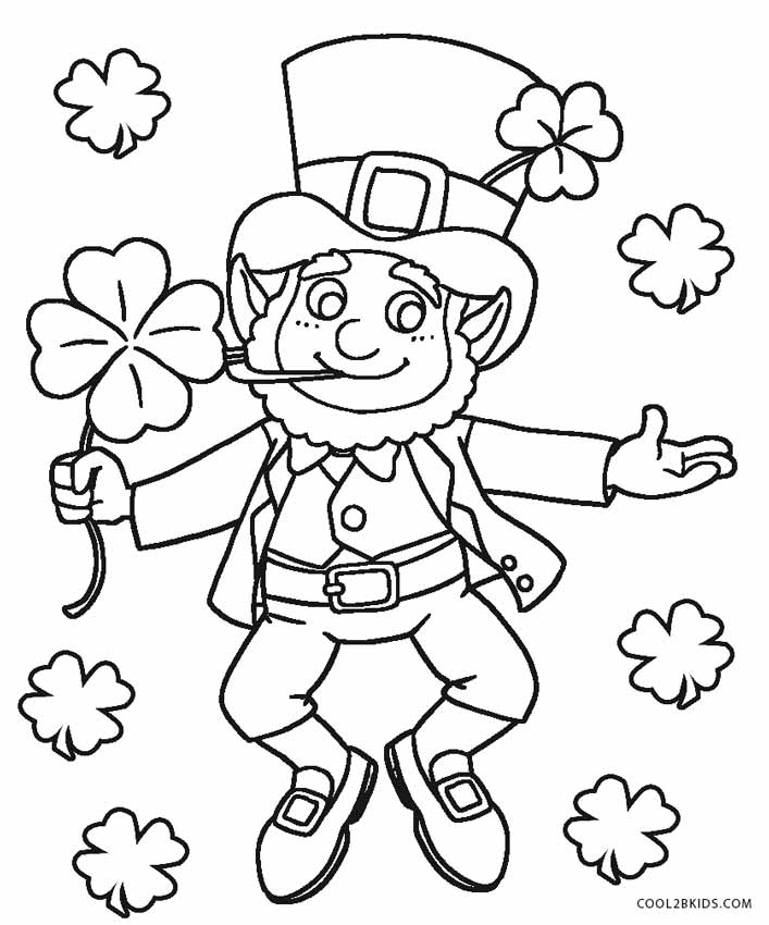leprechuan coloring pages | Free Printable Leprechaun Coloring Pages For Kids | Cool2bKids